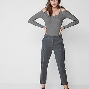 NEW Express Robbed Long Sleeve Bodysuit